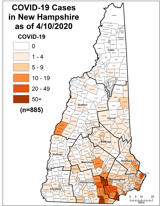 April 10 Case Map