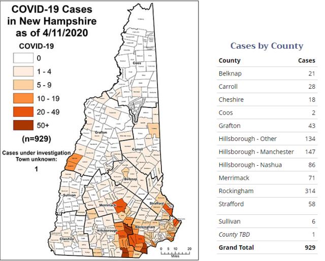 April 11 Case Map
