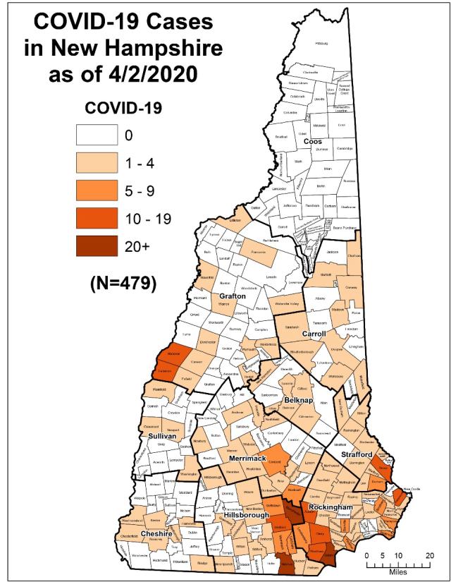 April 2 Case Map